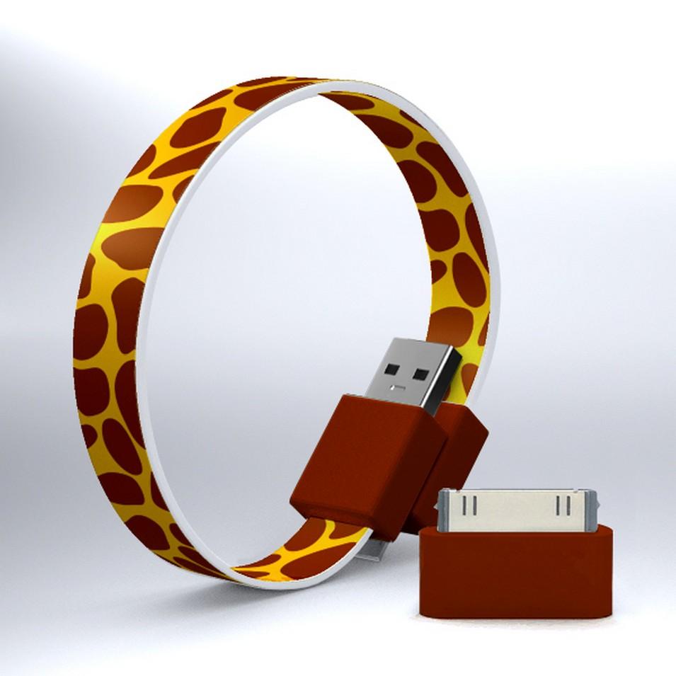 Mohzy 時尚3C設計 繽紛環型USB傳輸線-長頸鹿 | 設計 | Citiesocial