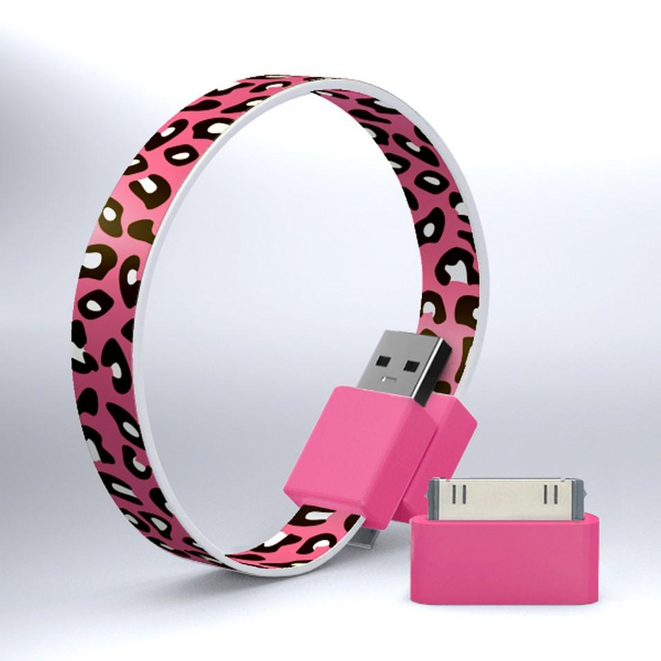 Mohzy 時尚3C設計 繽紛環型USB傳輸線-粉紅豹紋 | 設計 | Citiesocial