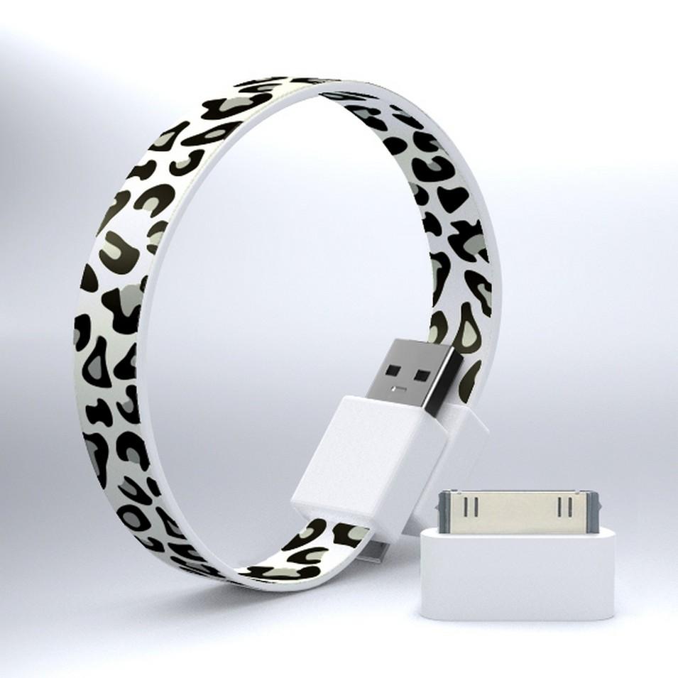 Mohzy 時尚3C設計 繽紛環型USB傳輸線-灰白豹紋 | 設計 | Citiesocial