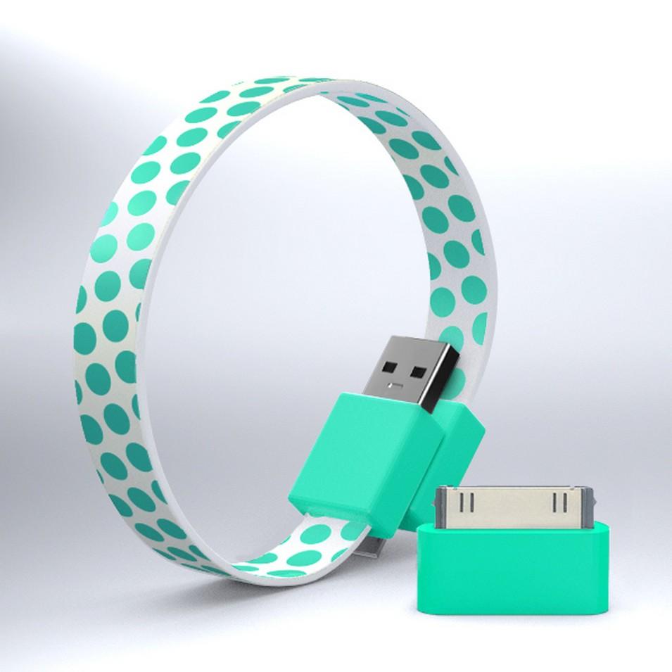 Mohzy 時尚3C設計 繽紛環型USB傳輸線-綠點點 | 設計 | Citiesocial