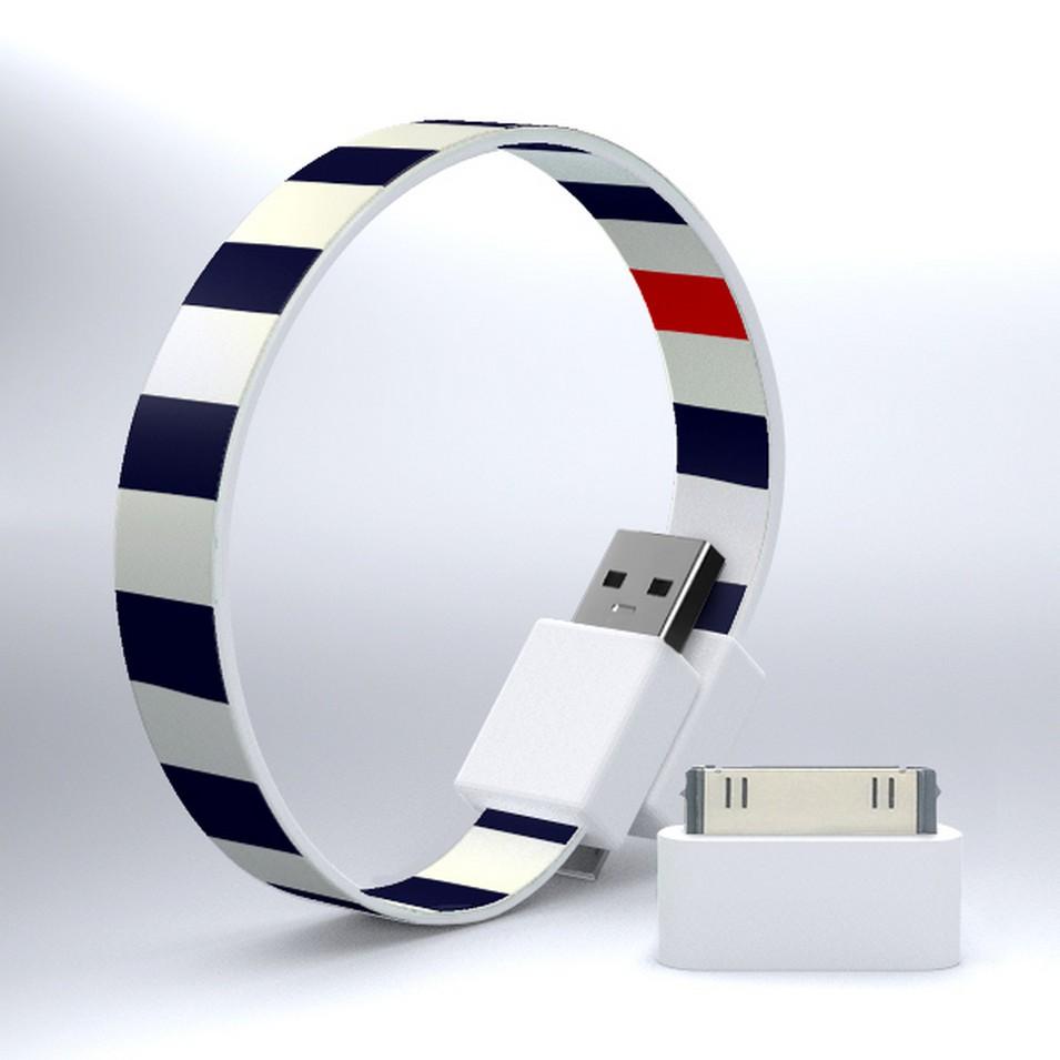 Mohzy 時尚3C設計 繽紛環型USB傳輸線-粗藍線 | 設計 | Citiesocial