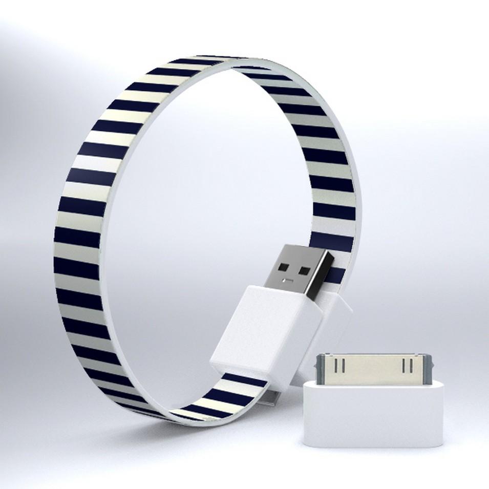 Mohzy 時尚3C設計 繽紛環型USB傳輸線-細藍線 | 設計 | Citiesocial