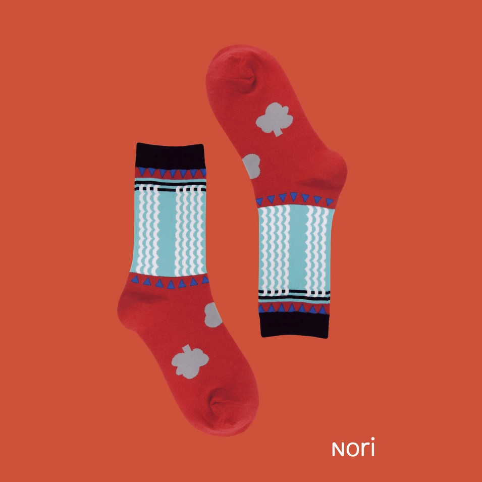 NORI SOCKS 2013 no.1 牛肉麵款(紅色)   設計   Citiesocial