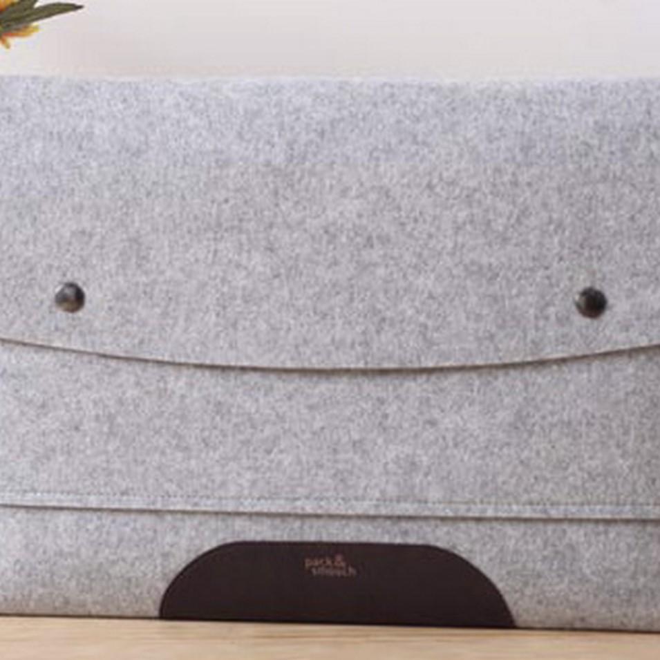 Pack&Smooch 德國時尚包 Pack & Smooch MacBook Air 11.6吋 手作羊毛氈保護內袋(石灰羊毛/深棕皮革) | 設計 | Citiesocial