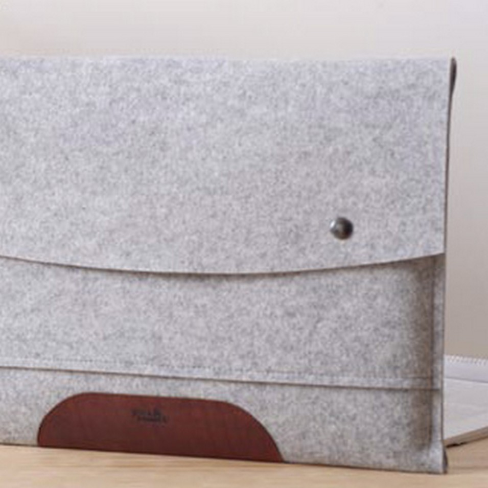 Pack&Smooch 德國時尚包 Pack & Smooch MacBook Air 13.3吋 手作羊毛氈保護內袋(石灰羊毛/淺棕皮革) | 設計 | Citiesocial