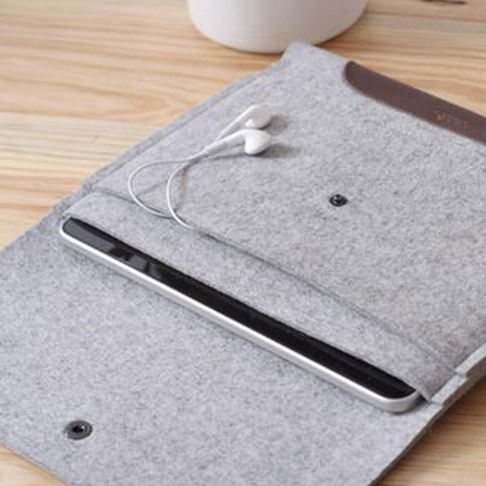 Pack&Smooch 德國時尚包 Pack & Smooch iPad 手作羊毛氈保護內袋(石灰羊毛/深棕皮革) | 設計 | Citiesocial
