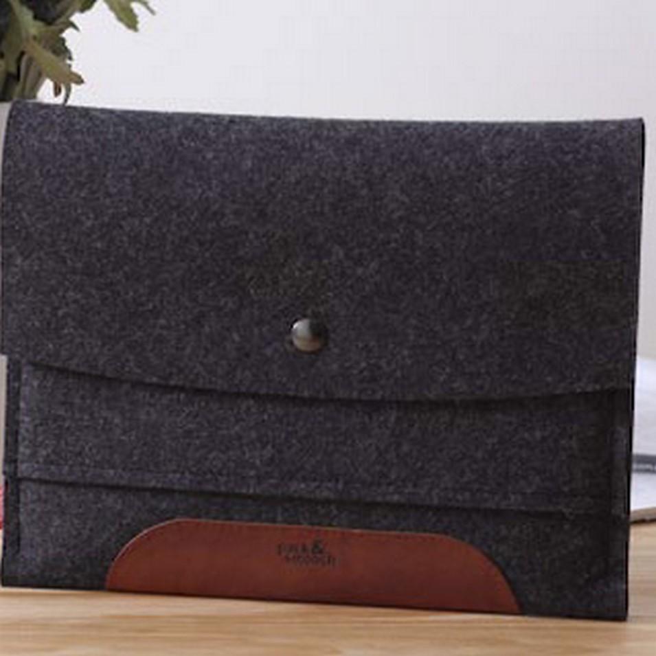 Pack&Smooch 德國時尚包 Pack & Smooch iPad 手作羊毛氈保護內袋(碳黑羊毛/淺棕皮革) | 設計 | Citiesocial