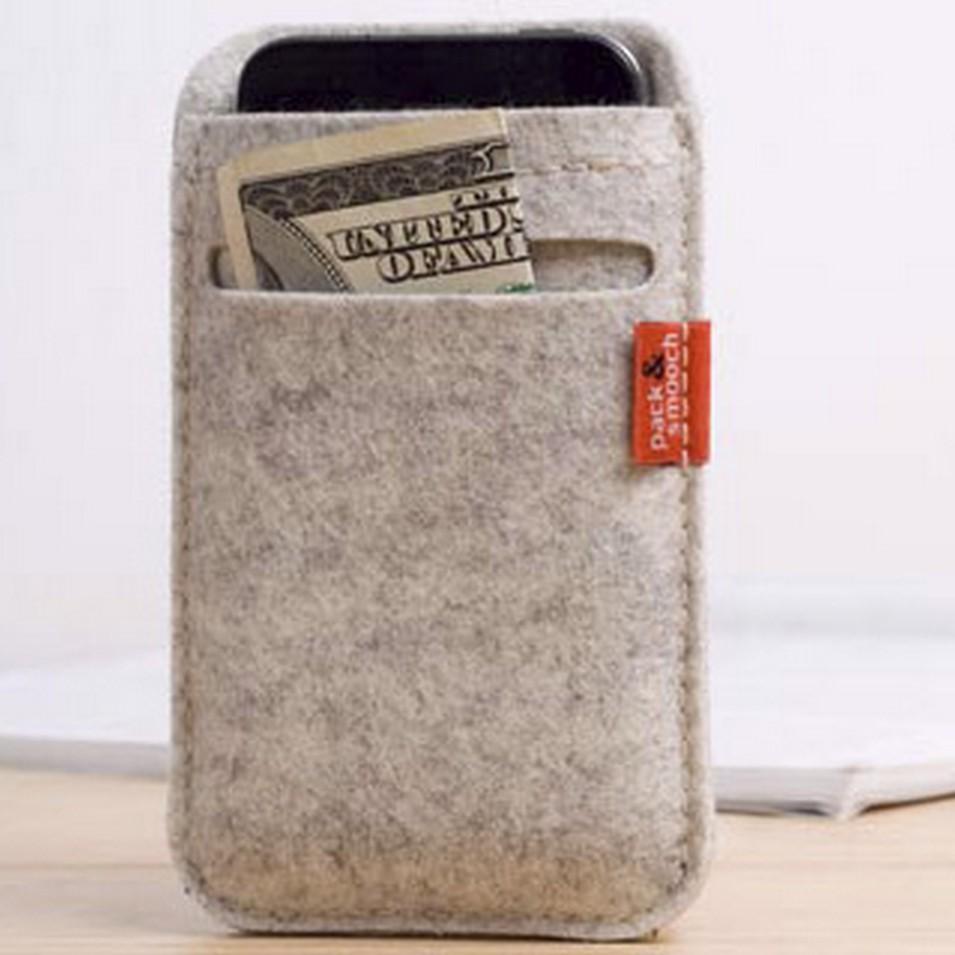 Pack&Smooch 德國時尚包 Pack & Smooch Soay 系列 iPhone 4/4S 手作羊毛氈保護套(全石灰白) | 設計 | Citiesocial