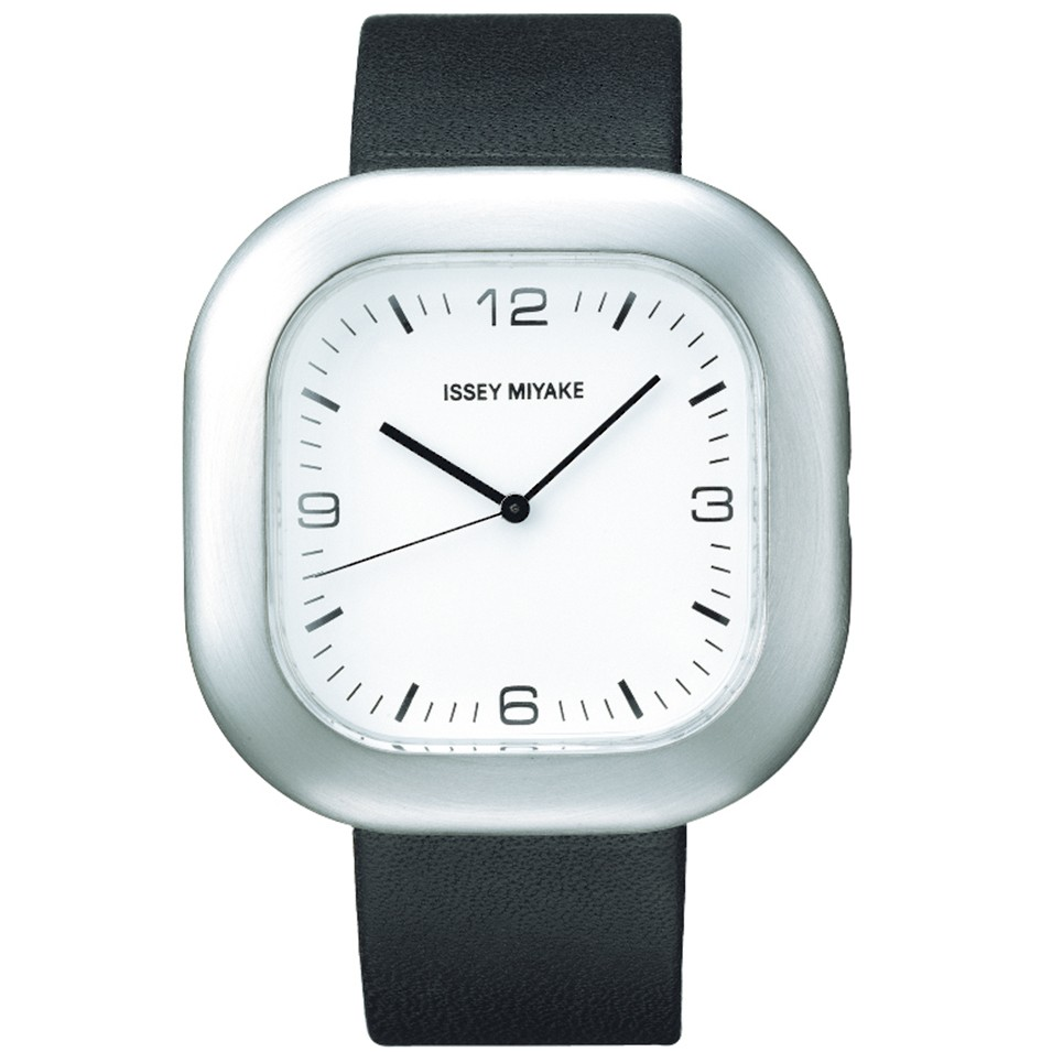ISSEY MIYAKE 三宅一生錶款 ISSEY MIYAKE-GO系列中性腕錶-白面+黑小牛皮帶 | 設計 | Citiesocial