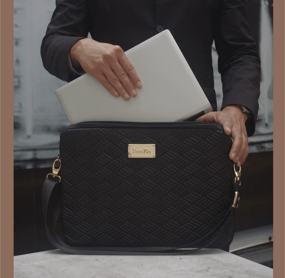 SunZa 時尚商務包 菱格紋15吋筆電袋(時尚黑) | 設計 | Citiesocial