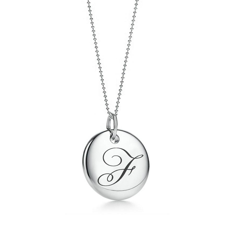 Truney Jewellery 創意銀飾 古典英文字母吊牌鍊(F)(黑字/白字) | 設計 | Citiesocial