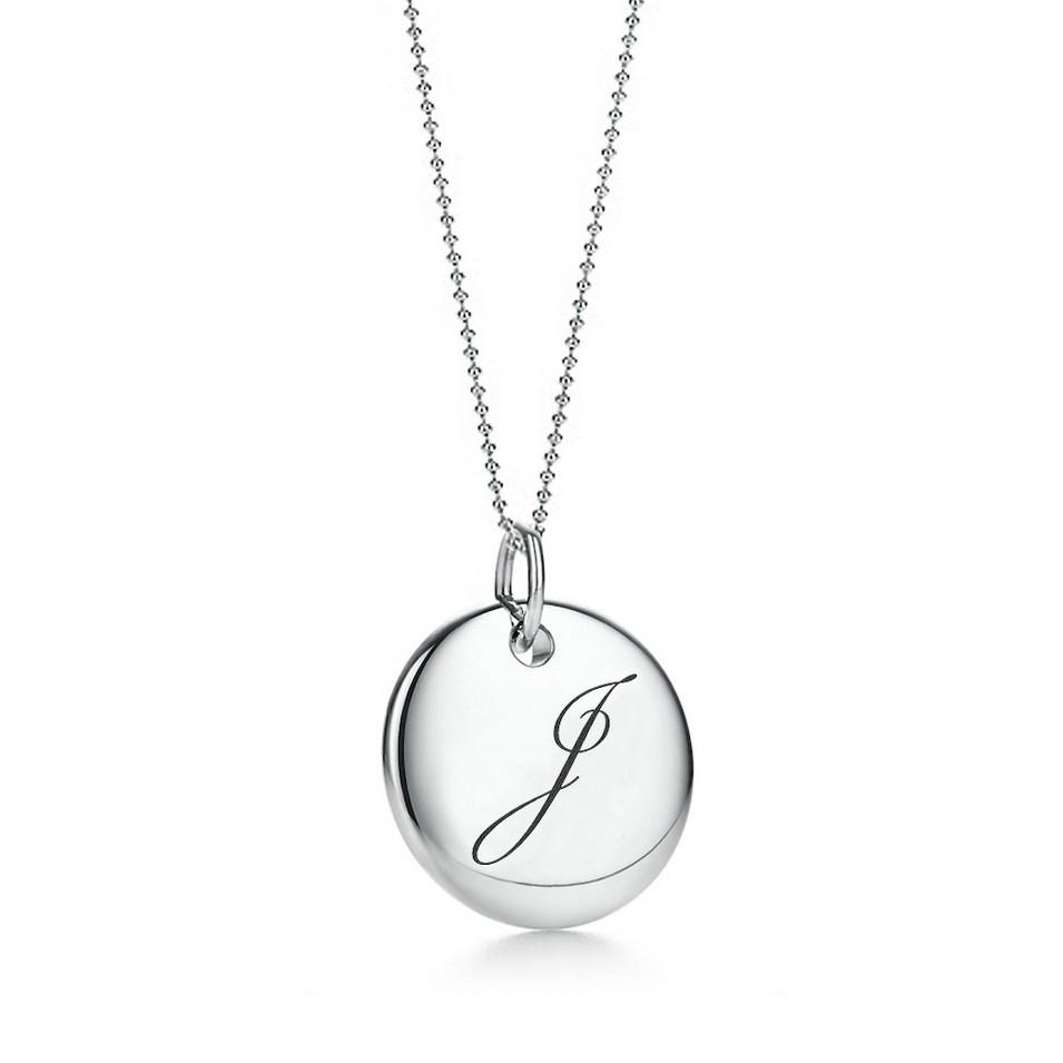 Truney Jewellery 創意銀飾 古典英文字母吊牌鍊(J)(黑字/白字) | 設計 | Citiesocial