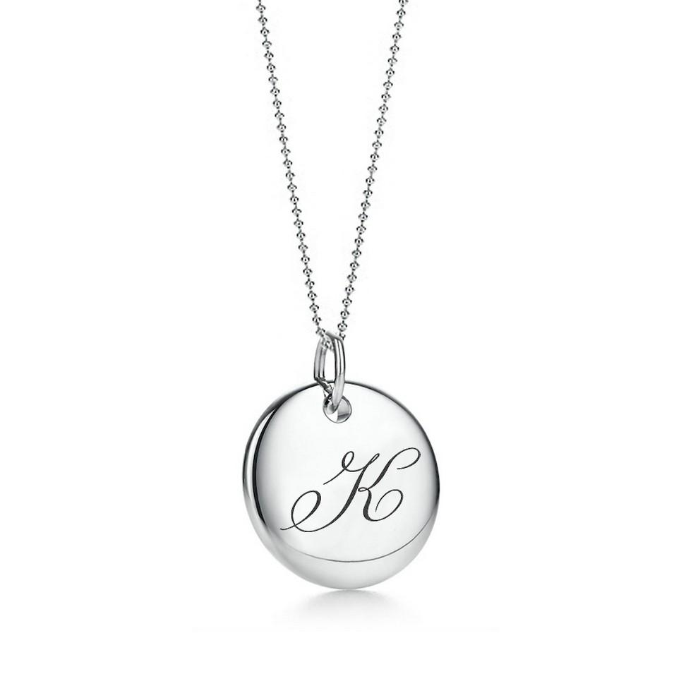 Truney Jewellery 創意銀飾 古典英文字母吊牌鍊(K)(黑字/白字) | 設計 | Citiesocial