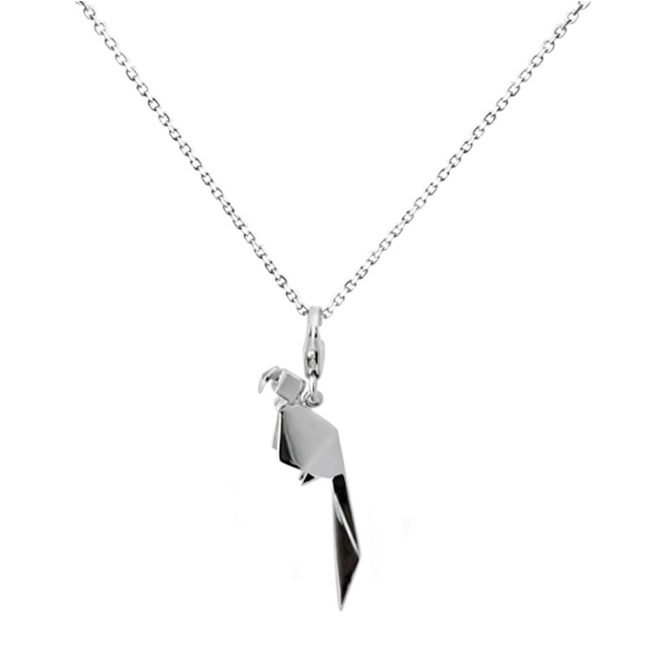 Truney Jewellery 創意銀飾 摺紙小動物墜鏈(蜜糖鸚鵡) | 設計 | Citiesocial