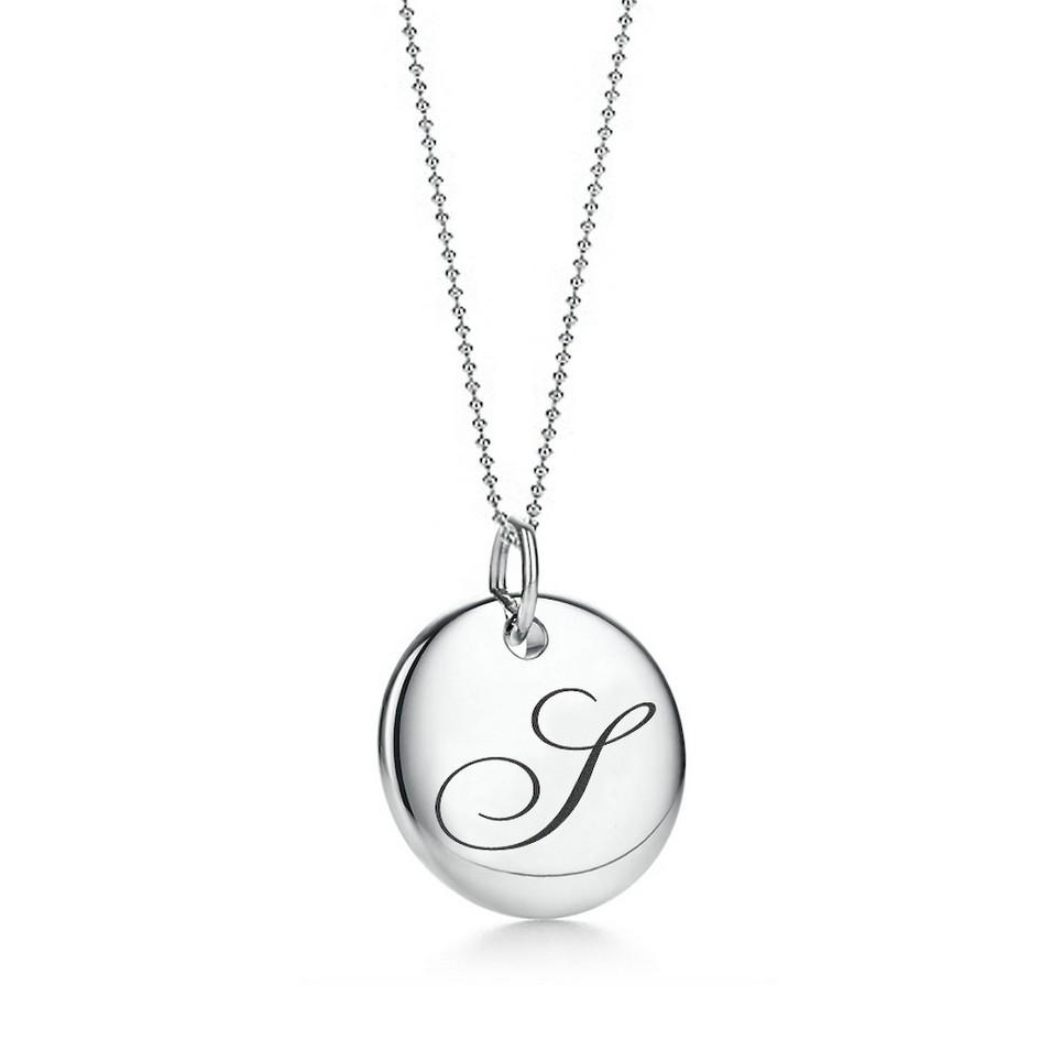 Truney Jewellery 創意銀飾 古典英文字母吊牌鍊(S)(黑字/白字) | 設計 | Citiesocial