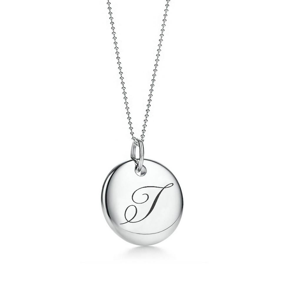 Truney Jewellery 創意銀飾 古典英文字母吊牌鍊(T)(黑字/白字) | 設計 | Citiesocial