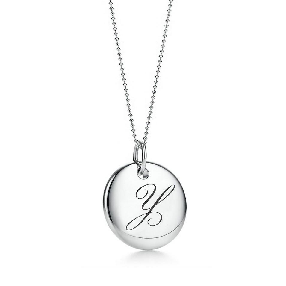 Truney Jewellery 創意銀飾 古典英文字母吊牌鍊(Y)(黑字/白字) | 設計 | Citiesocial