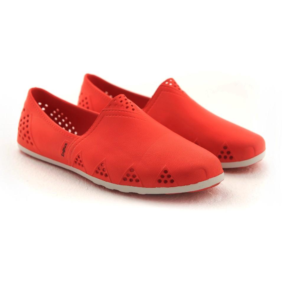 Englox 韓國雨鞋潮牌 Sherwood 平底雨鞋 - 紅 | 設計 | Citiesocial