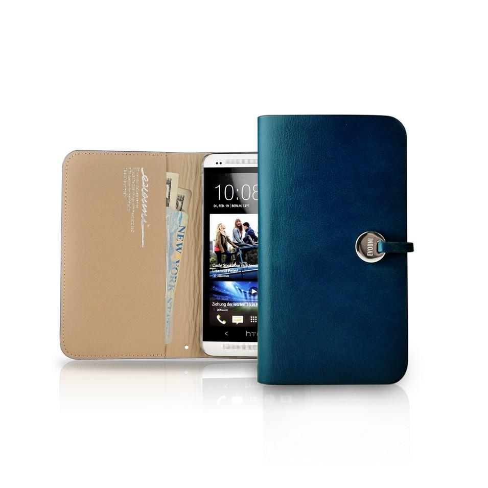 Evouni 時尚3C配件 納_皮夾護套_HTC One_藍 | 設計 | Citiesocial