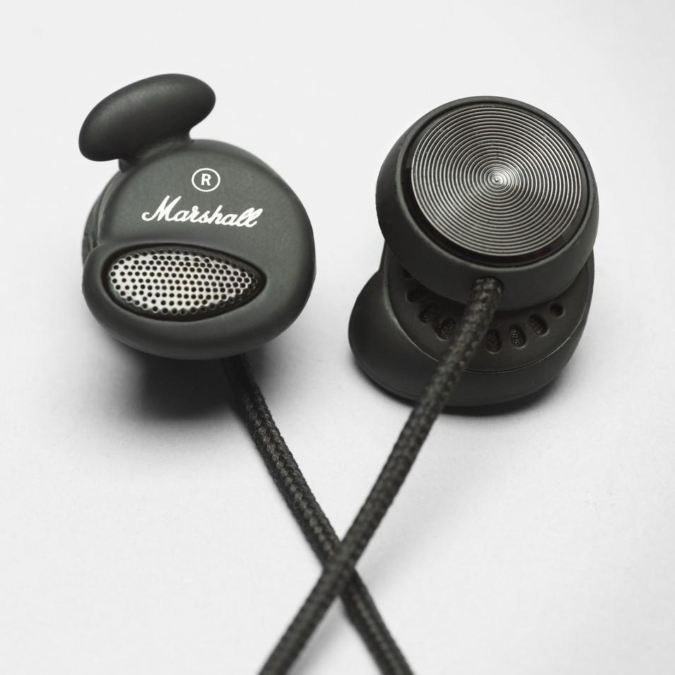 MarshallHeadphones MINOR 專利耳塞式耳機 (瀝青黑) | 設計 | Citiesocial