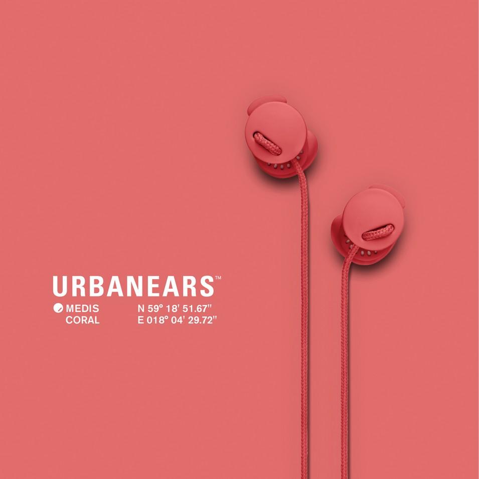 Urbanears 瑞典時尚耳機 Medis專利耳塞式耳機(珊瑚粉) | 設計 | Citiesocial