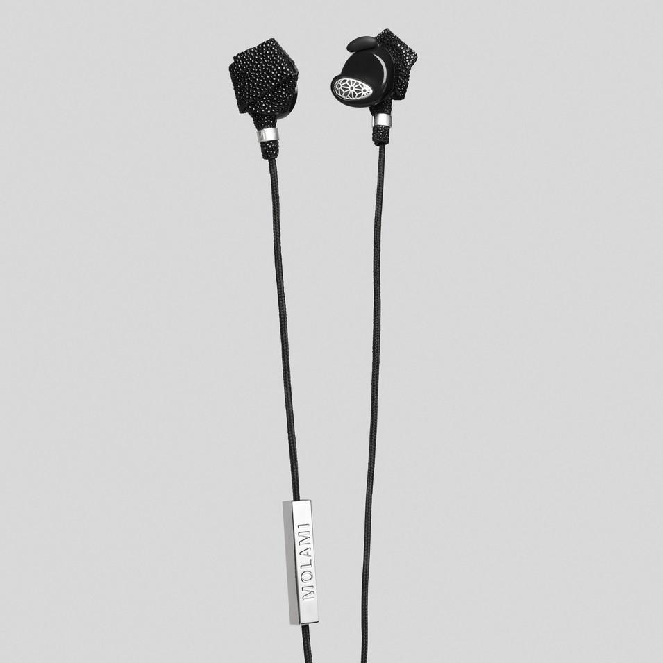 Molami 專屬女性時尚耳機 BIGHT 專利耳塞式耳機 (黑銀) | 設計 | Citiesocial