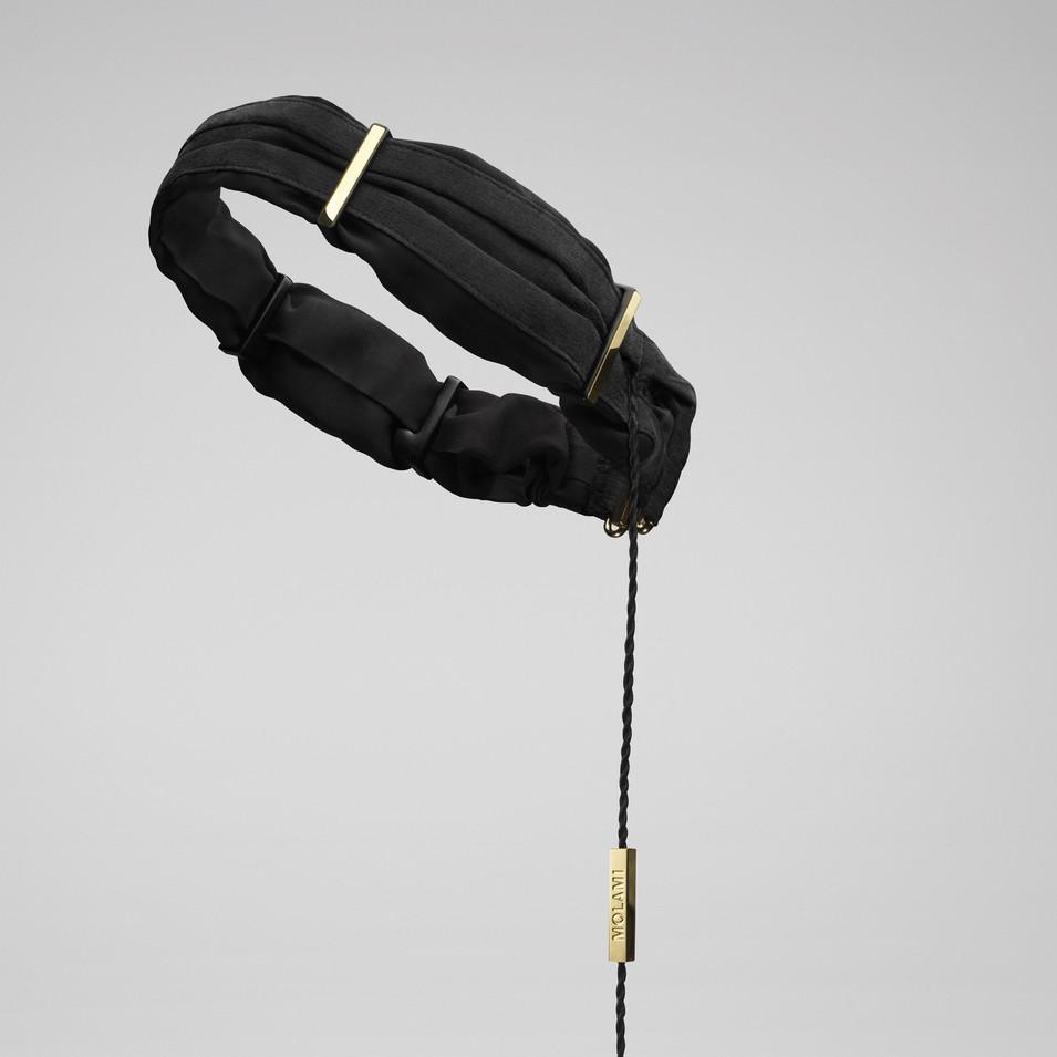 Molami 專屬女性時尚耳機 TWINE 髮帶式耳機 (黑金) | 設計 | Citiesocial