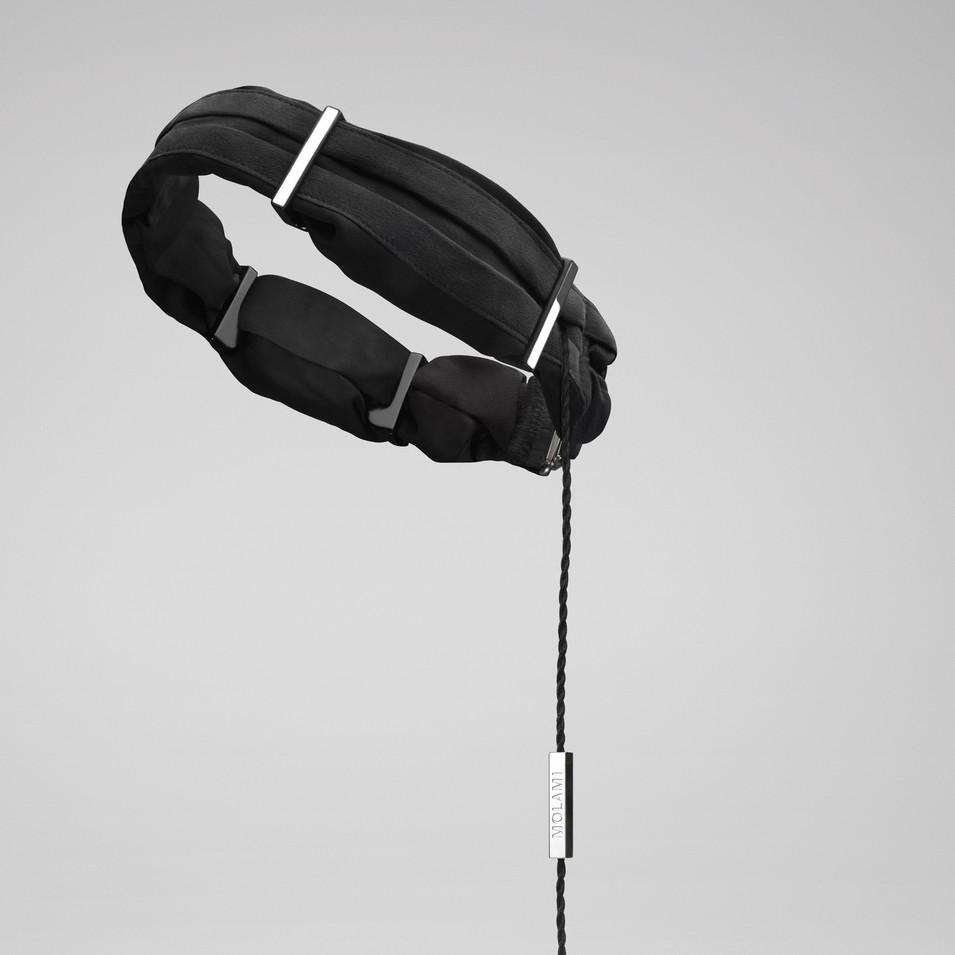 Molami 專屬女性時尚耳機 TWINE 髮帶式耳機 (黑銀) | 設計 | Citiesocial