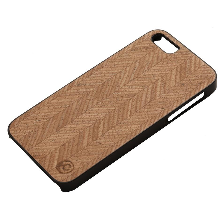 Man&Wood iPhone5保護殼Herringbone(黑邊) | 設計 | Citiesocial
