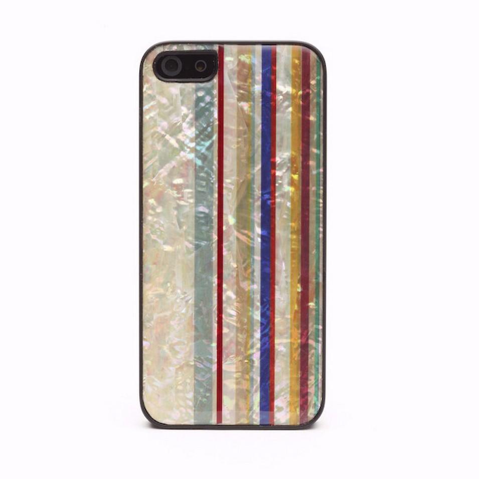 Man&Wood iPhone5貝殼保護殼Rainbow(黑邊) | 設計 | Citiesocial