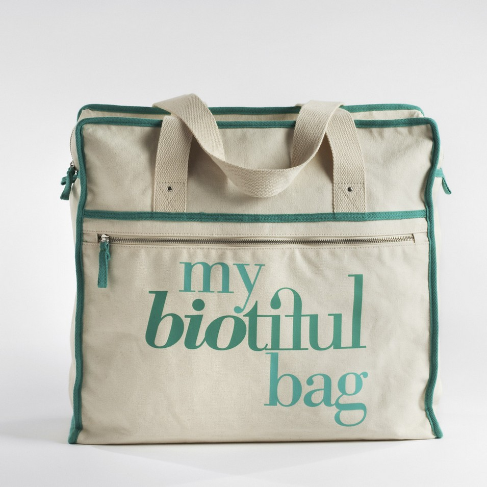 My Biotiful bag 法國有機棉-WEEKEND BAG-綠 | 設計 | Citiesocial