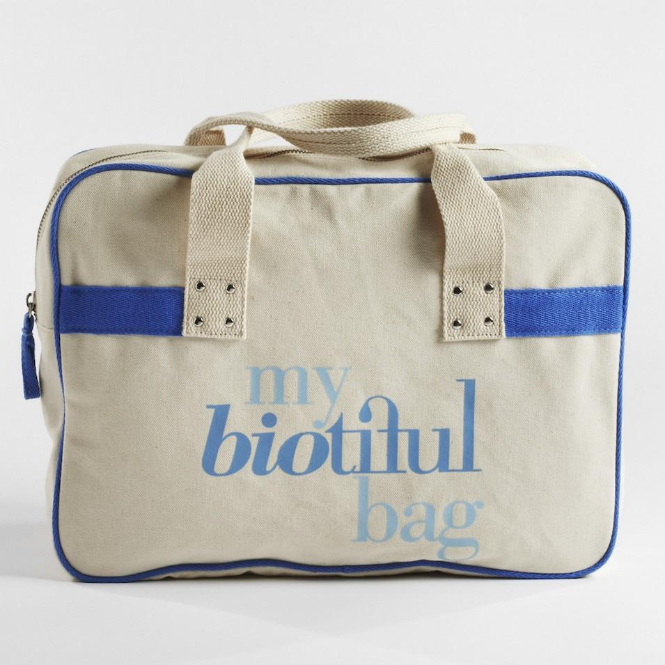 My Biotiful bag 法國有機棉-BOSTON BAG-藍 | 設計 | Citiesocial