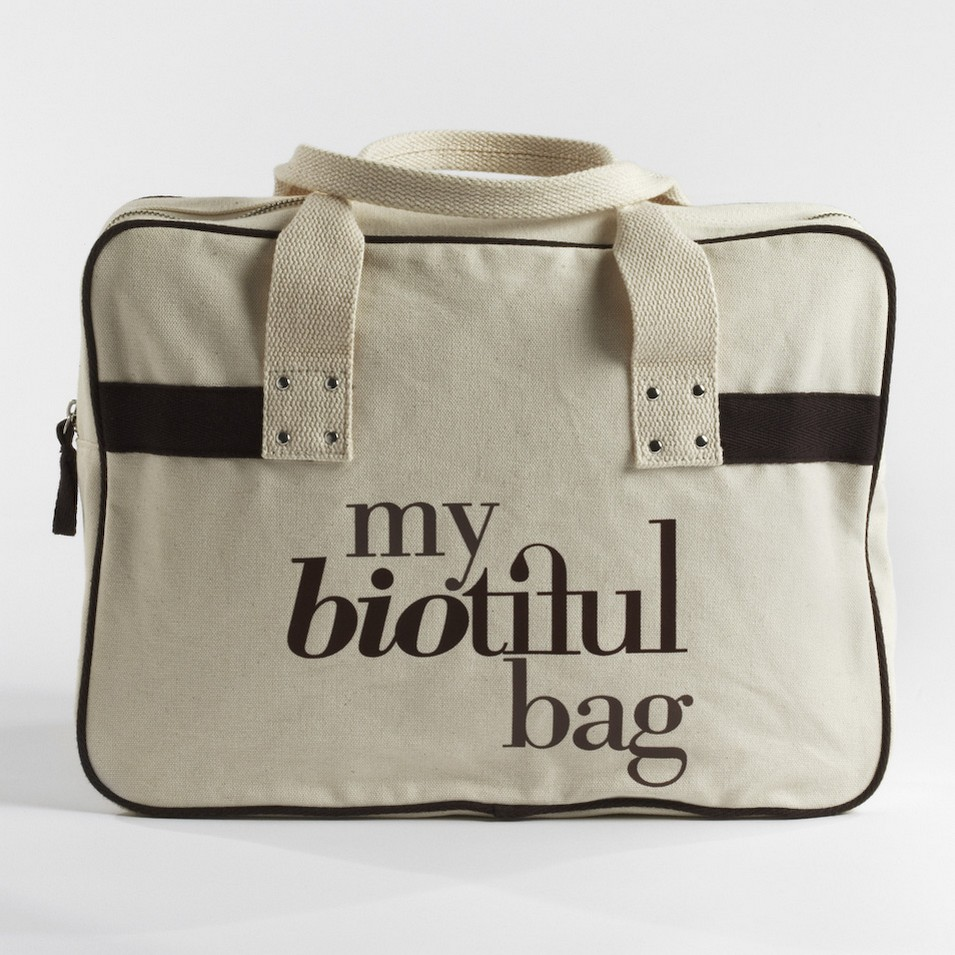 My Biotiful bag 法國有機棉-BOSTON BAG-棕 | 設計 | Citiesocial