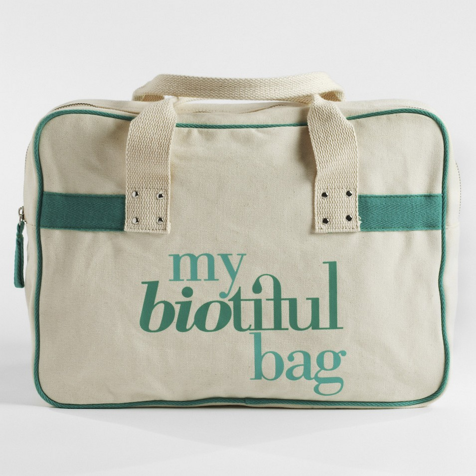 My Biotiful bag 法國有機棉-BOSTON BAG-綠 | 設計 | Citiesocial