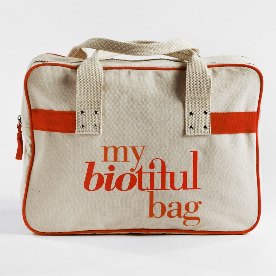 My Biotiful bag 法國有機棉-BOSTON BAG-橘 | 設計 | Citiesocial