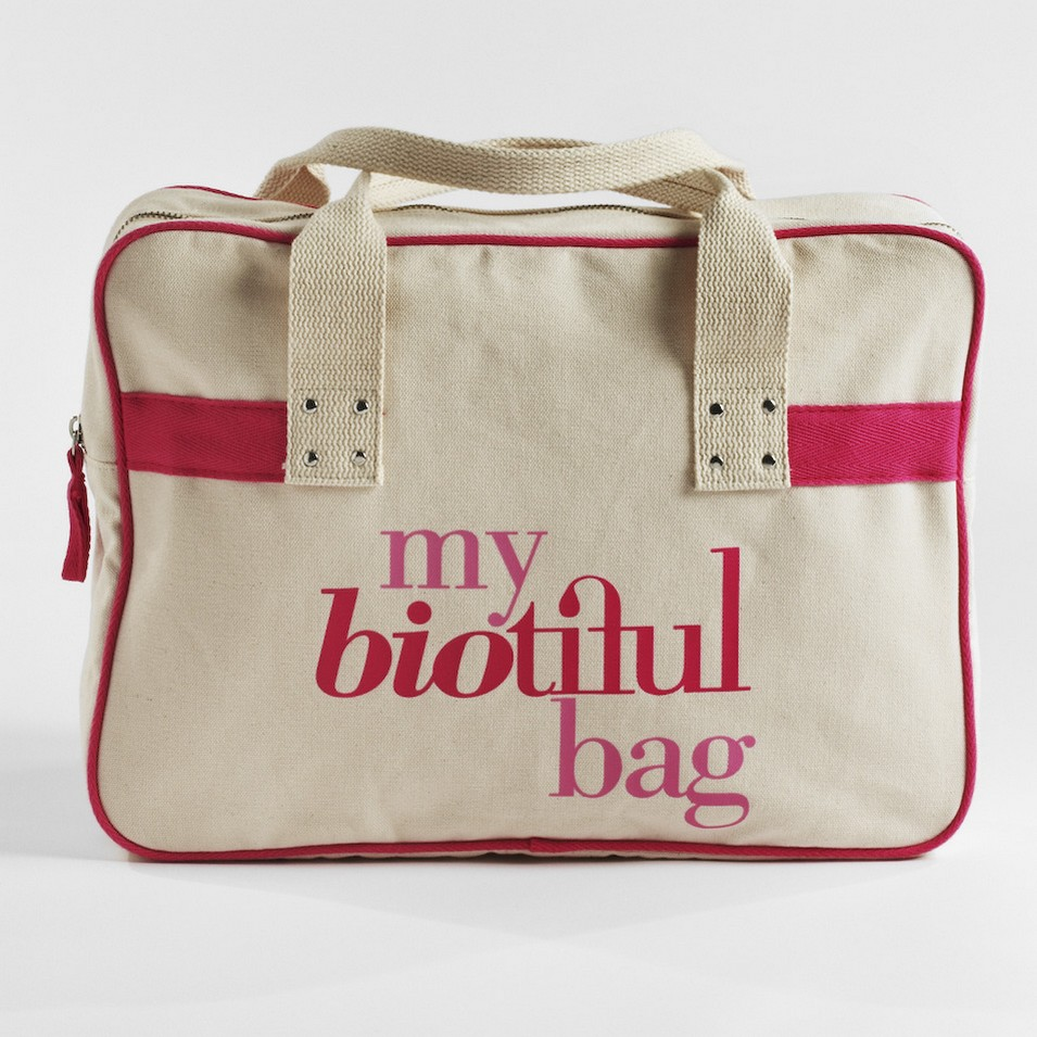 My Biotiful bag 法國有機棉-BOSTON BAG-粉 | 設計 | Citiesocial