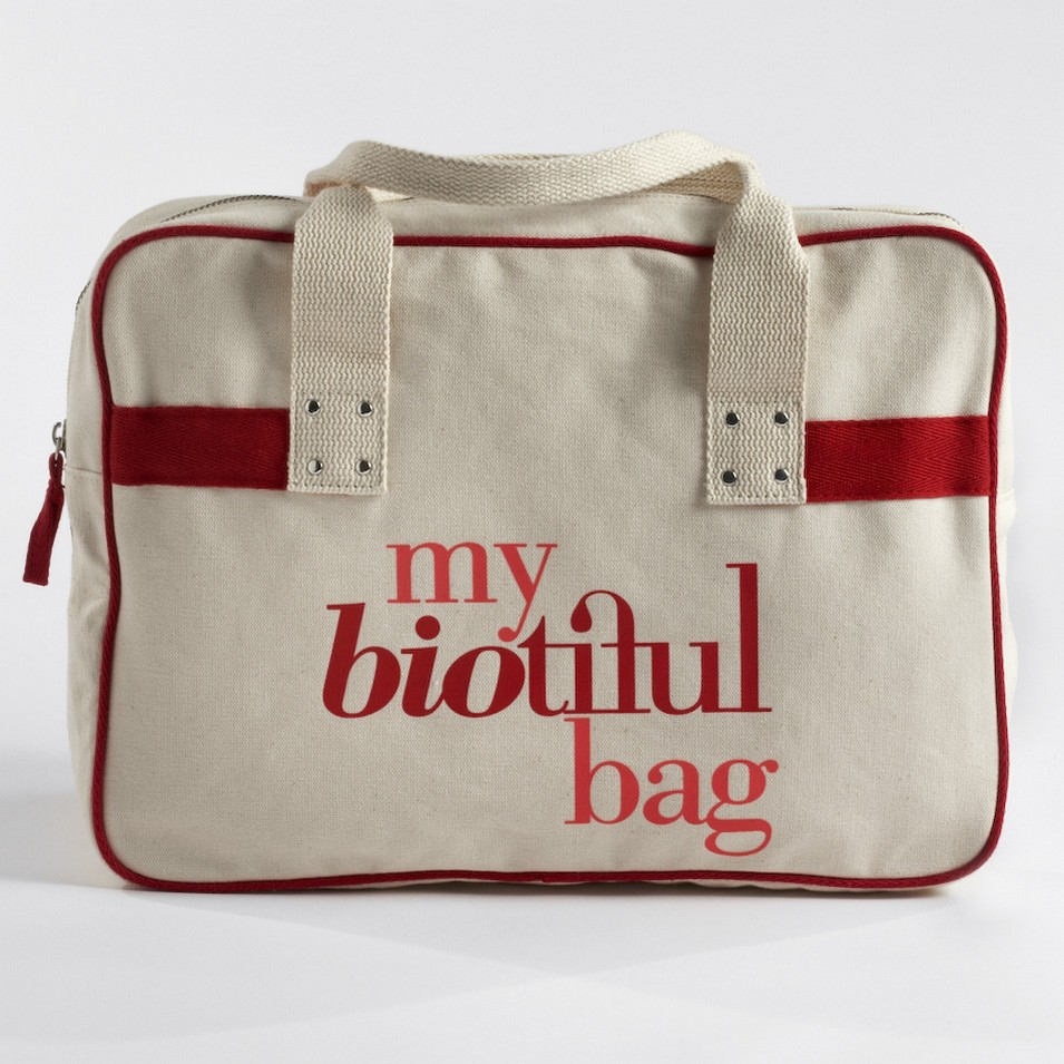 My Biotiful bag 法國有機棉-BOSTON BAG-紅 | 設計 | Citiesocial