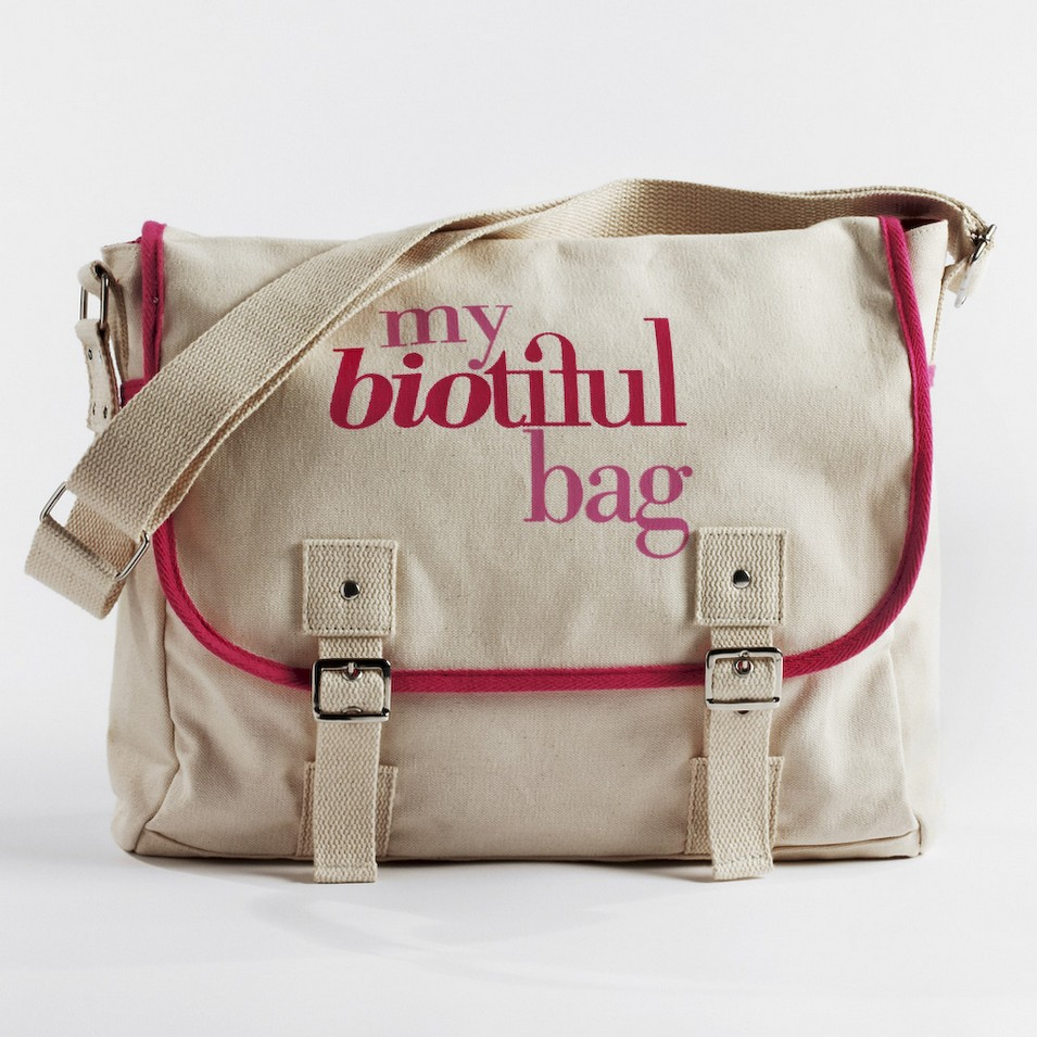 My Biotiful bag 法國有機棉-MESSENGER BAG-粉 | 設計 | Citiesocial