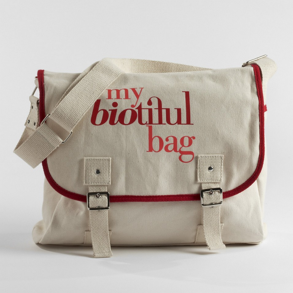 My Biotiful bag 法國有機棉-MESSENGER BAG-紅 | 設計 | Citiesocial