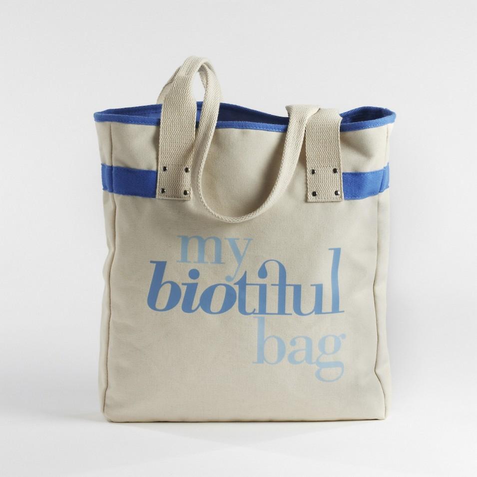 My Biotiful bag 法國有機棉-TOTE BAG-藍 | 設計 | Citiesocial