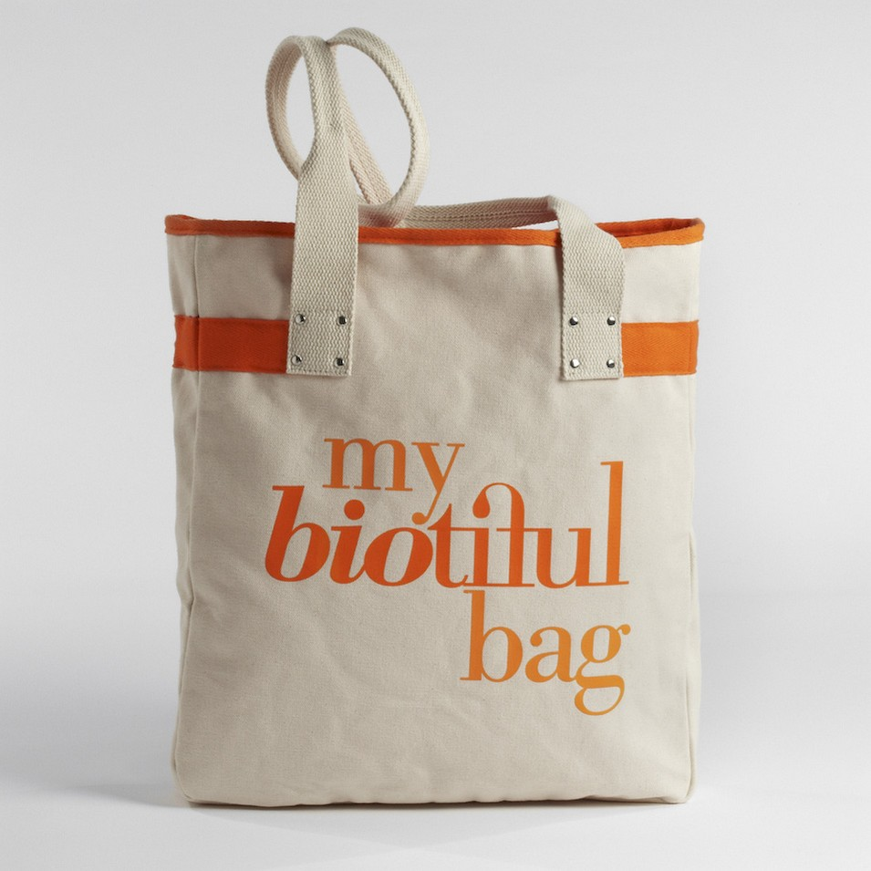 My Biotiful bag 法國有機棉-TOTE BAG-橘 | 設計 | Citiesocial