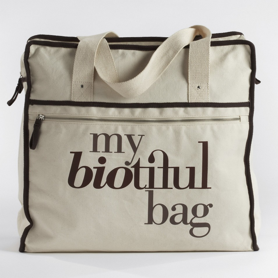 My Biotiful bag 法國有機棉-WEEKEND BAG-棕 | 設計 | Citiesocial