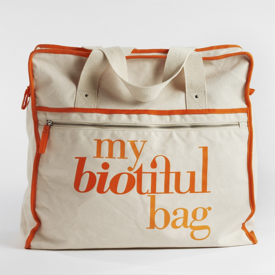 My Biotiful bag 法國有機棉-WEEKEND BAG-橘 | 設計 | Citiesocial