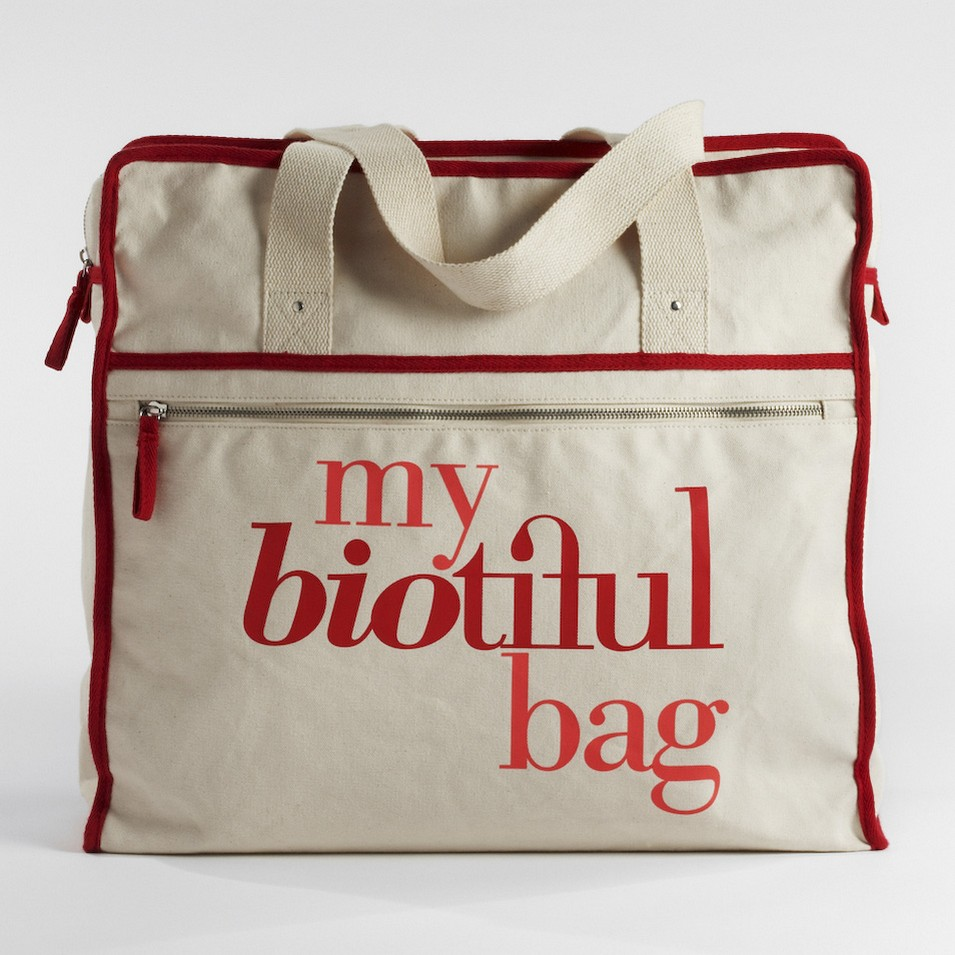 My Biotiful bag 法國有機棉-WEEKEND BAG-紅 | 設計 | Citiesocial