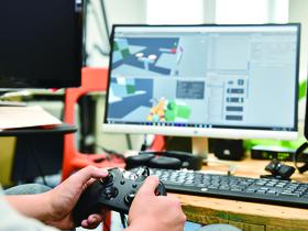 北海道情報大学{情報メディア学部 情報メディア学科 メディアデザイン専攻・メディアテクノロジー専攻 ゲームプログラミングコースのイメージ