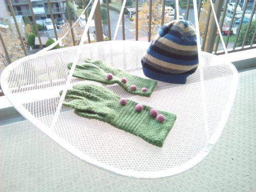 手袋ニット帽