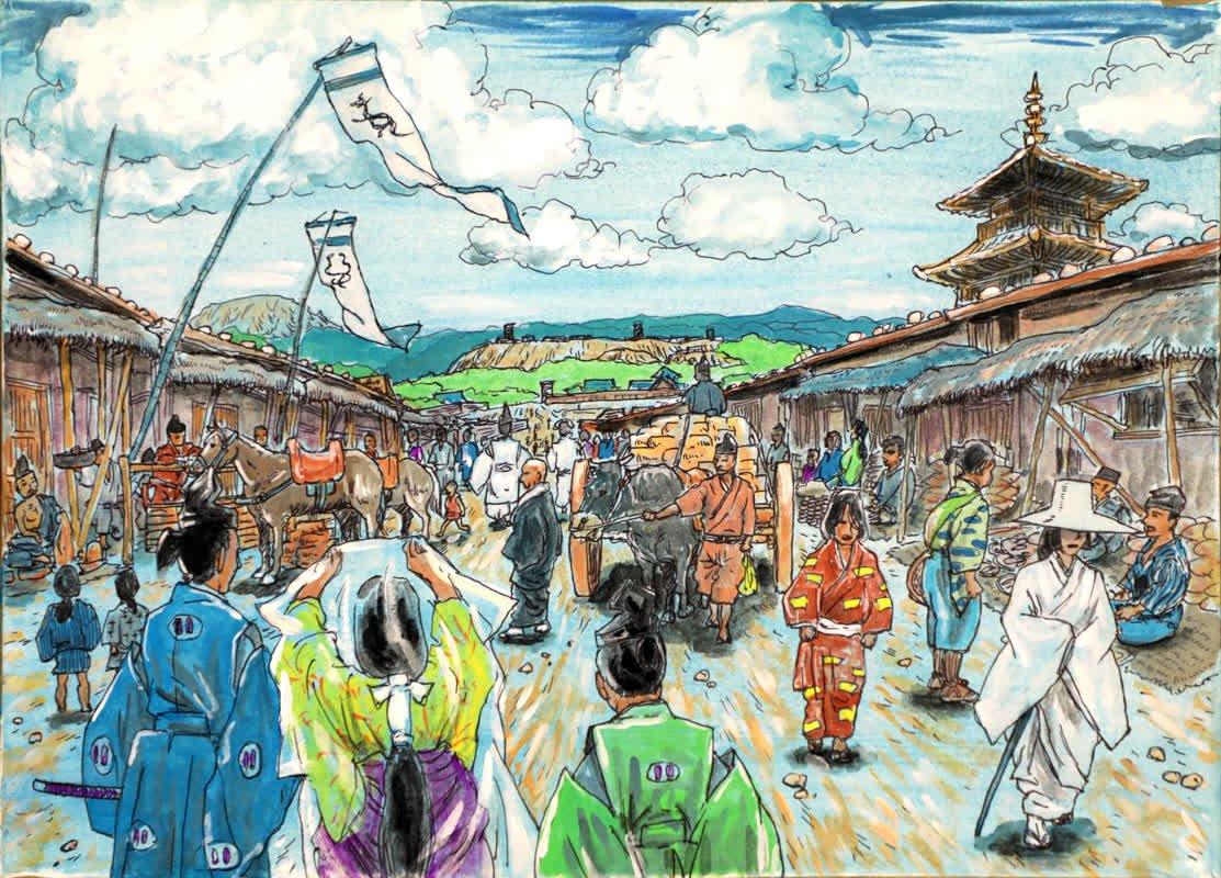 『幻の都菊池』絵画制作の取り組...に関する画像