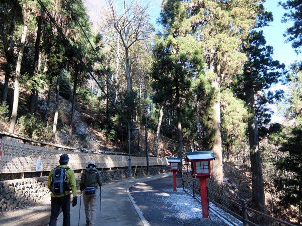 高尾山薬王院の参道。この参道にも、かつてはゴミが散乱していた