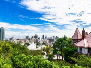 山の手から見える神戸の町並み