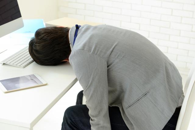 慢性疲労の男性